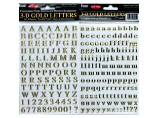 Pioneer 3-D Letter Sticker Gold