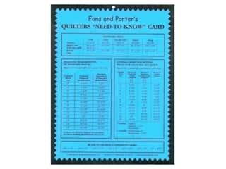 "Charts: Fons & Porter's Quilters ""Need-to-Know"" Card"