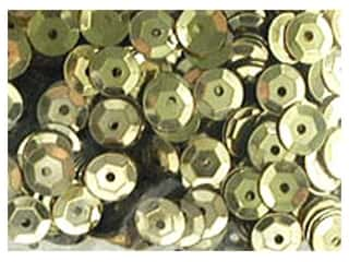 Sequins 8mm: Accent Design Cupped Sequins 8 mm 200 pc Gold (3 packages)
