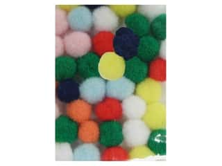 "1"" pom poms: Pom Pom by Accent Design 1/8 in. Multi 40pc. (3 packages)"