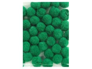 "1"" pom poms: Pom Pom by Accent Design 1/8 in. Green 40pc. (3 packages)"