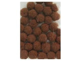 3 mm pom poms: Accent Design Pom Pom 3 mm 40 pc Brown (3 packages)
