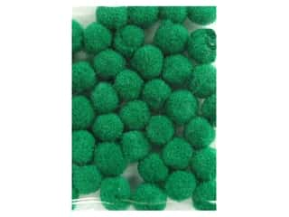 Pom Poms: Pom Pom by Accent Design 3/16 in. Green 40pc. (3 packages)