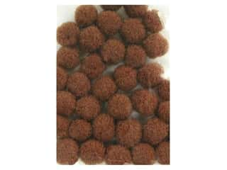pom-poms: Pom Pom by Accent Design 3/16 in. Brown 40pc. (3 packages)