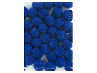 5 mm pom poms: Pom Pom by Accent Design 3/16 in. Royal Blue 40pc. (3 packages)