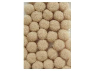 pom-poms: Pom Pom by Accent Design 3/16 in. Beige 40pc. (3 packages)