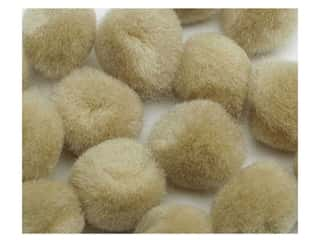 Children Pom Poms: Pom Pom by Accent Design 3/8 in. Beige 16pc. (3 packages)
