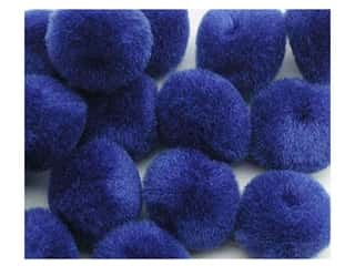 "1/2"" pom poms: Pom Pom by Accent Design 1/2 in. Royal Blue 16pc. (3 packages)"
