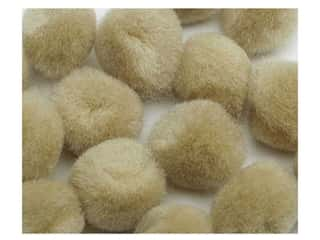 "1/2"" pom poms: Pom Pom by Accent Design 1/2 in. Beige 16pc. (3 packages)"