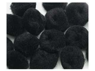 "1"" pom poms: Pom Pom by Accent Design 1 in. Black 8pc. (3 packages)"