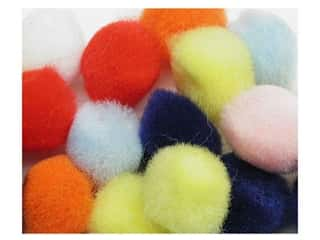 "1"" pom poms: Pom Pom by Accent Design 1 1/2 in. Multi 3pc. (3 packages)"
