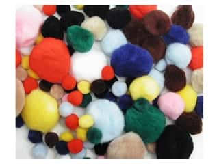 Accent Design Pom Poms: Pom Pom by Accent Design Variety Pack Assorted 100pc.