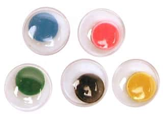Accent Design Flat Back Eyes Round 7mm 20pc Multi (3 packages)