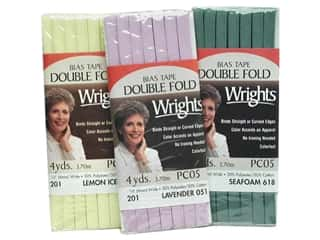 Home Decor Sale: Wrights Double Fold Bias Tape 4 yd, SALE $1.29-$1.99.