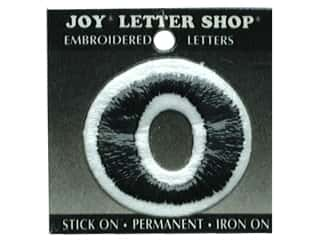 "Iron-On Number ""0"" Embroidered 1 1/2 in. Black"