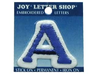 "Iron-On Letter ""A"" Embroidered 1 1/2 in. Blue"