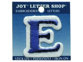 Letter Shop Iron On Blue E