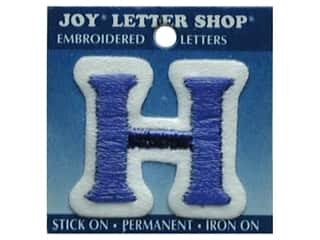 "Sports Joy Letter Shop Iron On Blue: Joy Lettershop Iron-On Letter ""H"" Embroidered 1 1/2 in. Blue"