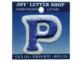 Letter Shop Iron On Blue P