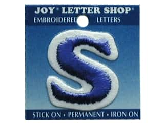 Letter Shop Iron On Blue S