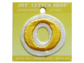 "Sports $0 - $2: Joy Lettershop Iron-On Number ""0"" Embroidered 1 1/2 in. Gold"