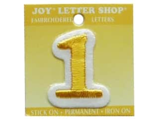 Letter Shop Iron On Gold 1