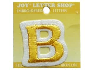 "Iron-On Letter ""B"" Embroidered 1 1/2 in. Gold"