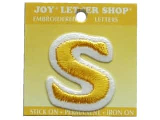 "Irons Joy Letter Shop Iron On Gold: Joy Lettershop Iron-On Letter ""S"" Embroidered 1 1/2 in. Gold"