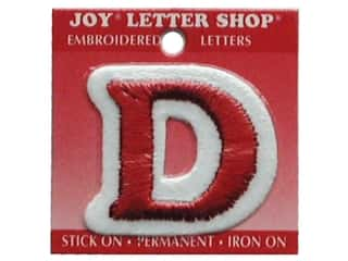 Sports Joy Letter Shop Iron On White: Joy Letter Shop Iron On Red D