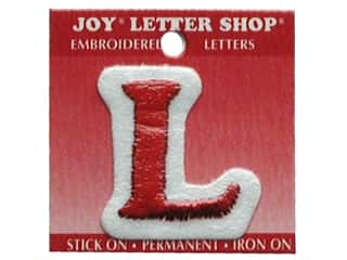 Appliques Joy Letter Shop Iron On White: Joy Letter Shop Iron On Red L