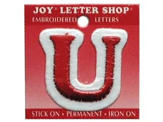 Sports Joy Letter Shop Iron On White: Joy Letter Shop Iron On Red U