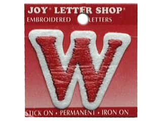 Appliques Joy Letter Shop Iron On White: Joy Letter Shop Iron On Red W