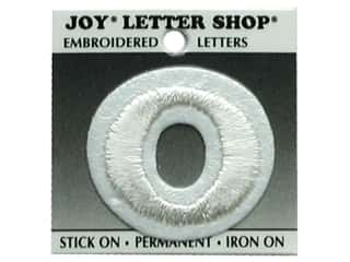 "Scrapbooking $0 - $3: Joy Lettershop Iron-On Number  ""0"" Embroidered 1 1/2 in. White"