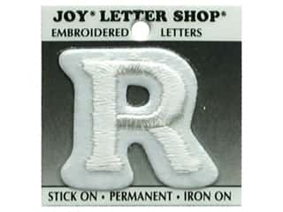 "Iron-On Letter ""R"" Embroidered 1 1/2 in. White"