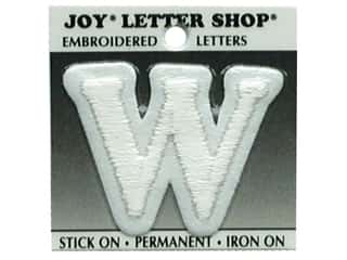 "Iron-On Character ""W"" Embroidered 1 1/2 in. White"