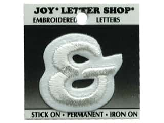 Joy Letter Shop Iron On White &