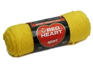 Red Heart Sport Yarn #230 Yellow 2.5 oz.