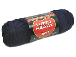 Red Heart Sport Yarn #853 Soft Navy 2.5 oz.