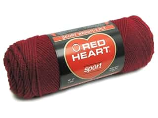 Red Heart Sport Yarn #918 Vermilion 2.5 oz.