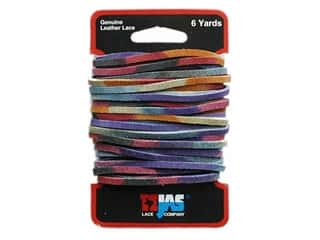 Leather Factory Suede Lace 1/8&quot;x6yd Vari Brights