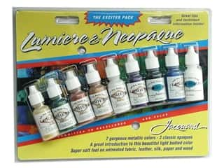 acrylic paint: Jacquard Paint Exciter Pack Lumiere & Neopaque