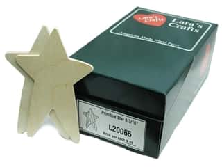 "Lara's Bulk Wood Star Primitive 4""x 6 3/16"" 18pc"