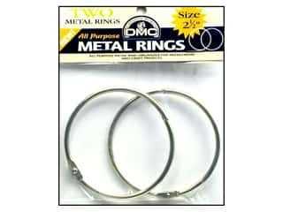 "DMC Metal Craft Rings 2.5"" 2 pc"