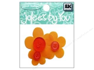 EK Jolee's By You Button Flowers Vellum Orange (6 packages)