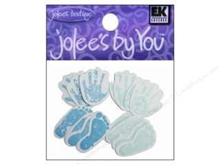 EK Jolee's By You New Baby Hand & Foot Prints Blue