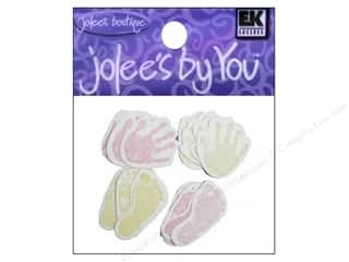 EK Jolee's By You New Baby Hand & Foot Prints Pink