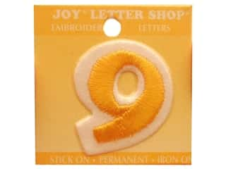 "Scrappin' Sports $8 - $9: Joy Lettershop Iron-On Number ""9"" Embroidered 1 1/2 in. Gold"