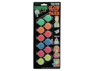 Glow-in-the-Dark Poster Paint Set 12 Pot