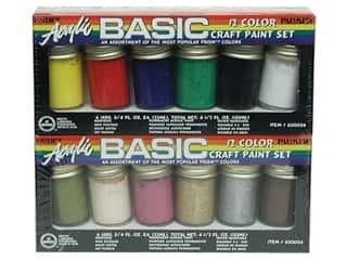acrylic paint: Acrylic Paint Set 3/4oz 12pc Basic