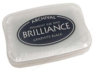 Stamps Black: Tsukineko Brilliance Large Craft Stamp Pad Graphite Black